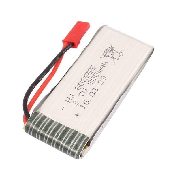3.7V 800mAh Charging Lithium Polymer Li-po Battery JST-2P for RC Airplane