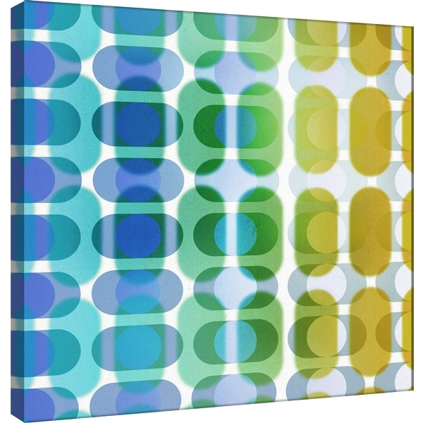 """PTM Images 9-101068 PTM Canvas Collection 12"""" x 12"""" - """"Transitions A"""" Giclee Abstract Art Print on Canvas"""