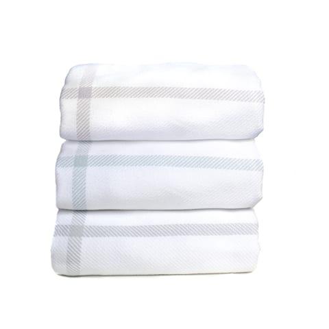 Yarn Dyed Checker Cotton Blanket