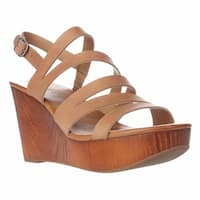 Lucky Brand Marinaa Wedge Strappy Sandals, Clay