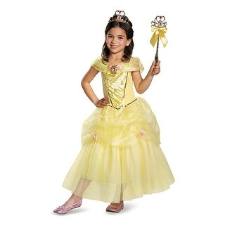 Girls Deluxe Belle Disney Princess Costume (3 options available)