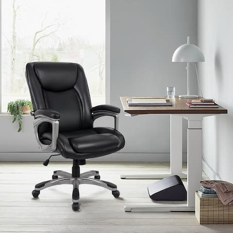 COLAMY Executive Office Chair w/Built-in Lumbar Support