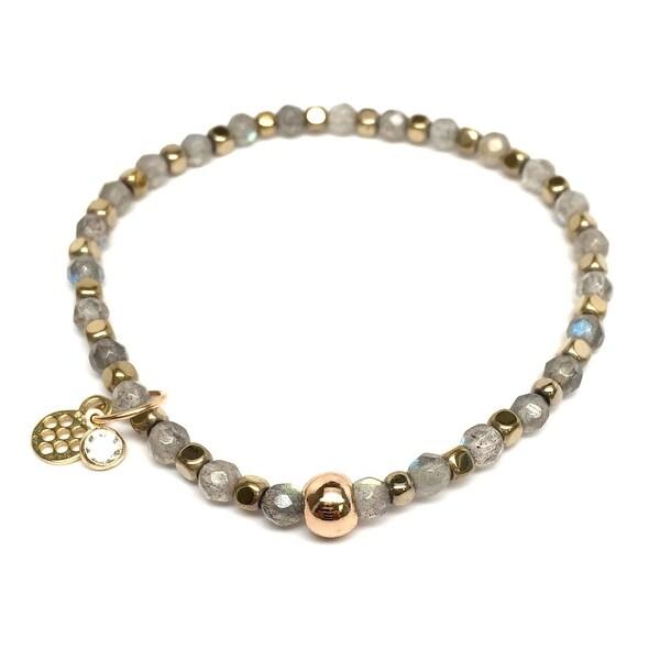 "Grey Labradorite Friendship 7"" Bracelet"