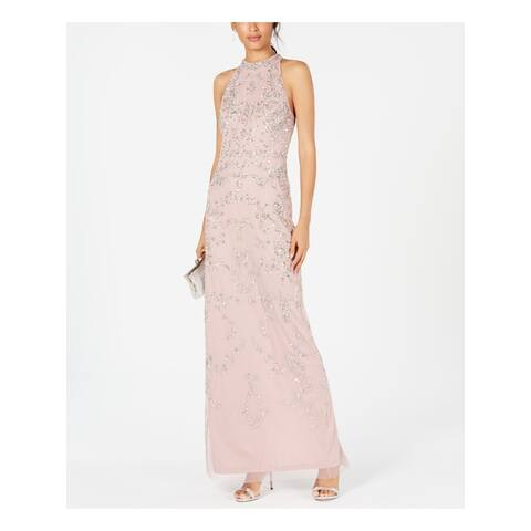 ADRIANNA PAPELL Pink Sleeveless Maxi Dress 14