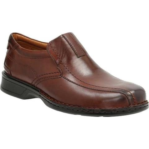 Clarks Men's Escalade Step Slip-On Brown Full Grain Leather/Leather