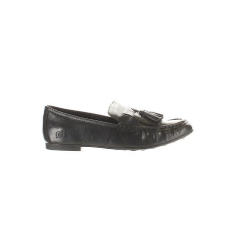Born Womens Charen Black Loafers Size 8.5