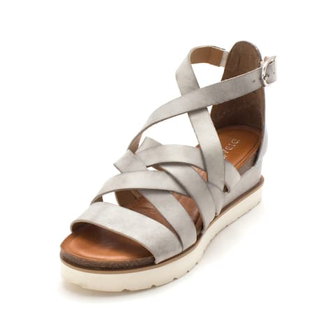 37fabbb82 Diba True Womens Good For Me Leather Open Toe Casual Platform Sandals