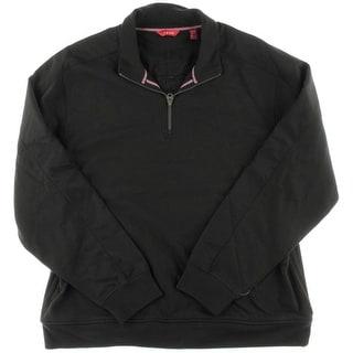 Izod Mens 1/4 Zip Fleece Funnel-Neck Sweatshirt - 2XL