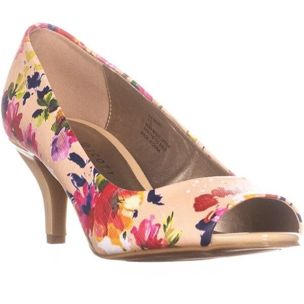 KS35 Mory Peep Toe Pump Heels, Rose Multi - 7.5 us