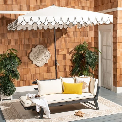 Safavieh Outdoor Living Elegant Valance 7.5 Ft Square Umbrella