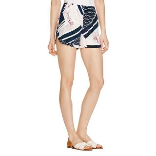 French Connection Womens Casual Shorts Floral Print Slit