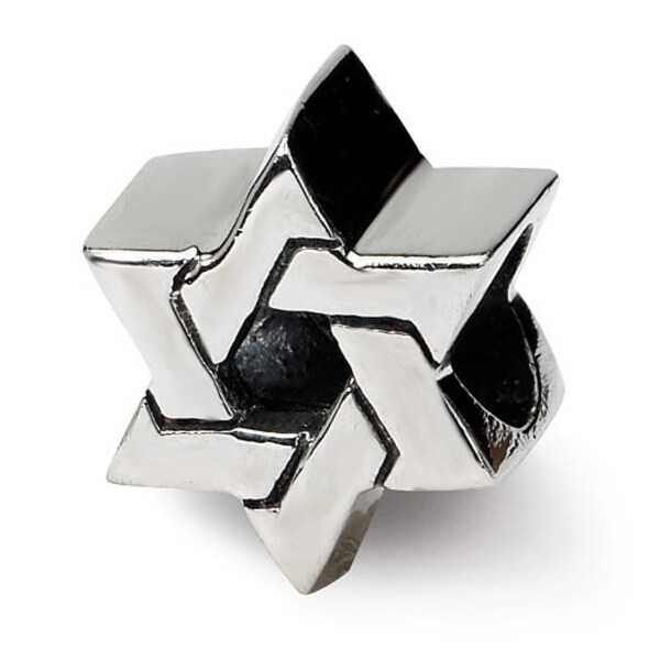 Sterling Silver Reflections Star of David Bead (4mm Diameter Hole)