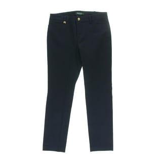 Lauren Ralph Lauren Womens Petites Twill Skinny Casual Pants - 10P