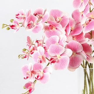 """G Home Collection Real Touch Butterfly Orchid Stem in Pink 37"""" Tall"""