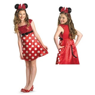 Red Minnie Mouse Tween Halloween Disney Costume