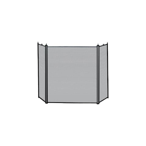 Blue Rhino UniFlame 3 Fold Screen - Black 3 Panel Fireplace Screen