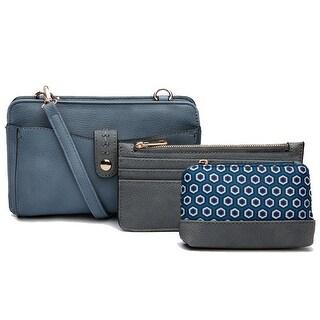 Style Strategy 3 in 1 set Paula Crossbody Bag, cion purse & credit card holder