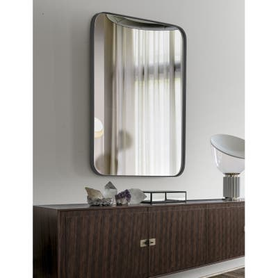 SUMMER STAR Black Large Bathroom Vanity Mirror - 24x36 In