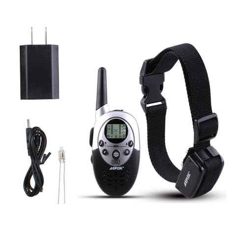 Dog Shock Training Collar 1000 Yards Remote Waterproof for Large Med Small Dogs - M