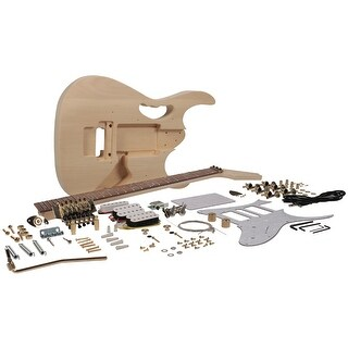 Seismic Audio Premium JEM Style DIY Electric Guitar Kit - Unfinished Luthier Project Kit