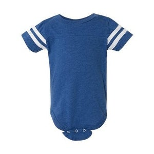 Infant Football Fine Jersey Bodysuit - Vintage Royal/ White - 18M
