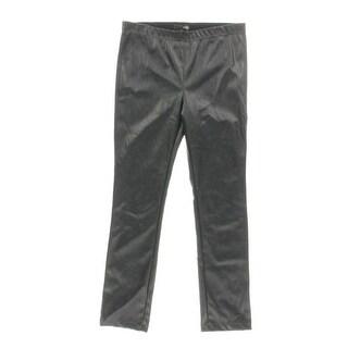 Aqua Womens Pants Faux Leather Pull On - L
