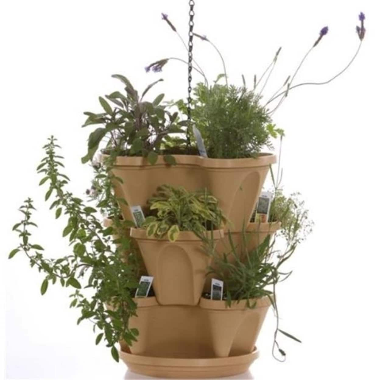 Nancy Janes P1364 12 in. Self Waterning Planter Tuscany