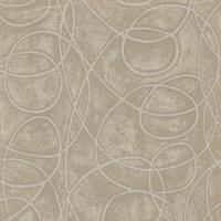Brewster HZN43023 Novia Grey Geometric Swirl Wallpaper - N/A