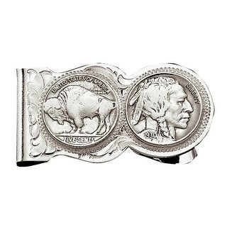 Montana Silversmiths Western Money Clip Mens Buffalo Indian - Silver Gold - One Size