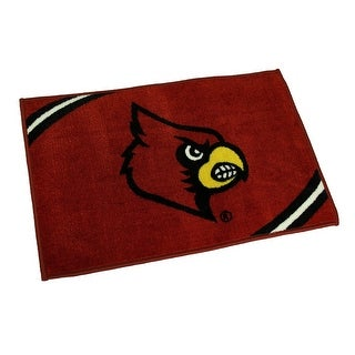 Officially Licensed Louisville Cardinals Non-Skid Throw Rug 20 x 30 inch - Red