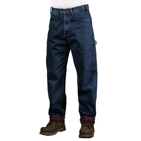 Outback Rider Men's Dark-Indigo Flannel Lined Carpenter Jean