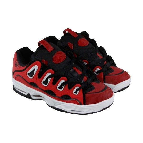 Osiris D3 2001 Mens Red Synthetic Athletic Lace Up Training Shoes
