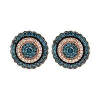 Prism Jewel 1.61Ct G-H/SI1 Ice-Blue Diamond & Diamond Earring - White G-H