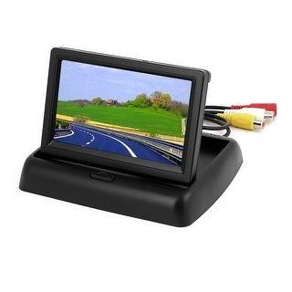 "Unique Bargains Unique Bargains 4.3"" Foldable TFT LCD Car Monitor for Reverse Rear View Back Up Color Camera"
