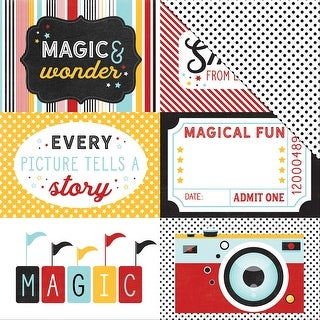 "Magic & Wonder Double-Sided Cardstock 12""X12""-4""X6"" Journaling Cards"