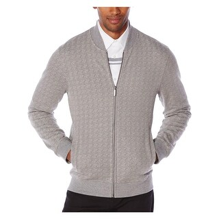 Perry Ellis Mens Track Jacket Jacquard Long Sleeves