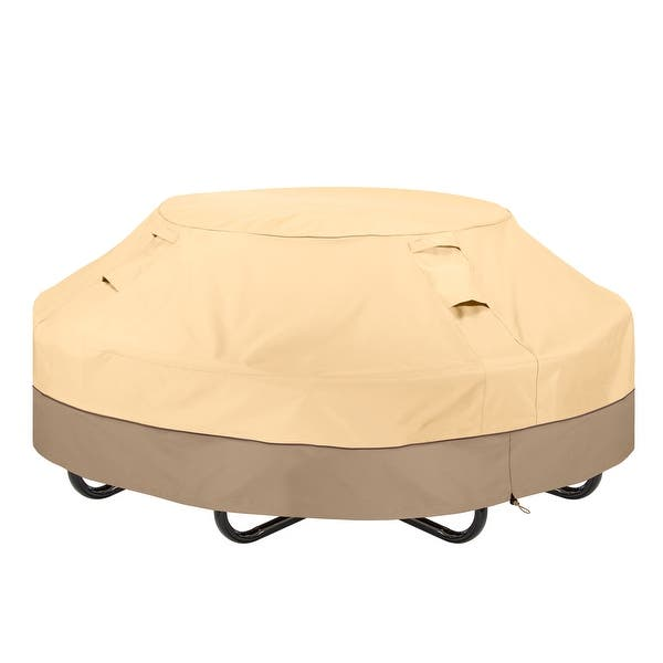 Classic Accessories Veranda Water Resistant 46 Inch Round Picnic Table Cover On Sale Overstock 29118084