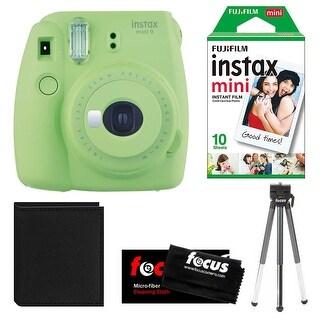 Fujifilm Instax Mini 9 (Lime Green) w/ Instax Film Essential Bundle