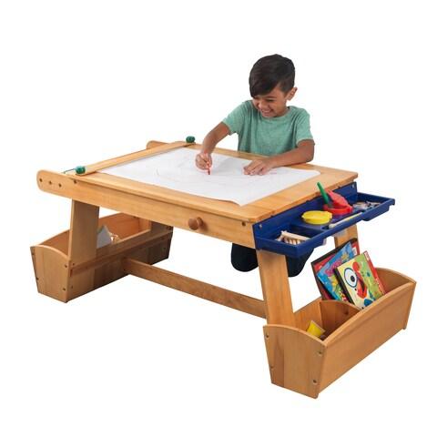 KidKraft: Art Table with Drying Rack & Storage