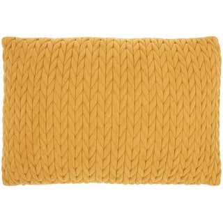 Link to Mina Victory Life Styles HandCrafted Chunky Knit Throw Pillow Similar Items in Decorative Accessories