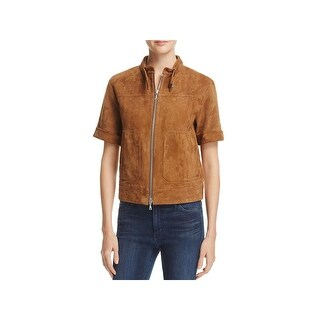 Theory Womens Lavzinie Jacket Lamb Suede Zip Front
