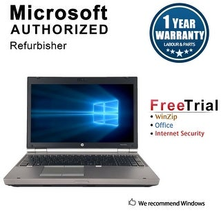 "Refurbished HP EliteBook 8570W 15.6"" Intel Core i7-3720QM 2.60GHz 8GB DDR3 240GB SSD DVD Windows 10 Pro 64 Bits 1 Year Warranty"