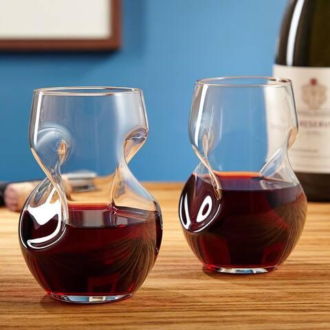 Amorosa Aerating Wine Glasses, Set of 2