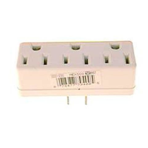 Leviton White Triple Tap Plug-In Outlet Adapter 002-698-W