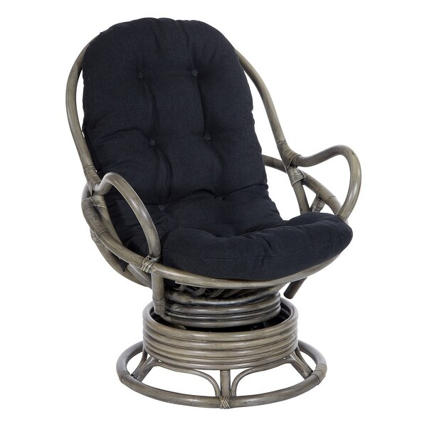 Tahiti Rattan Swivel Rocker Chair with Grey Frame. Opens flyout.