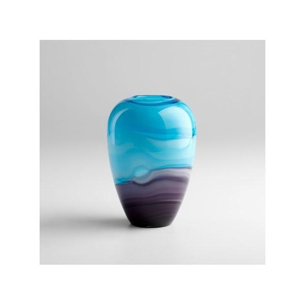 "Cyan Design 4809 9.5"" Callie Vase - Turquoise/Purple - N/A"