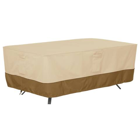 Classic Accessories Veranda Water-Resistant 96 Inch Rectangular/Oval Patio Table Cover