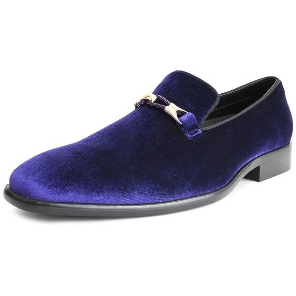 Men/'s Velvet Loafers Tuxedo Dress Shoes Slip-on Smoking Slipper with Gold Buckle