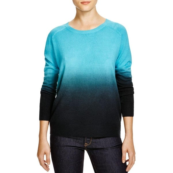 Aqua Womens Sweater Knit Dip-Dye