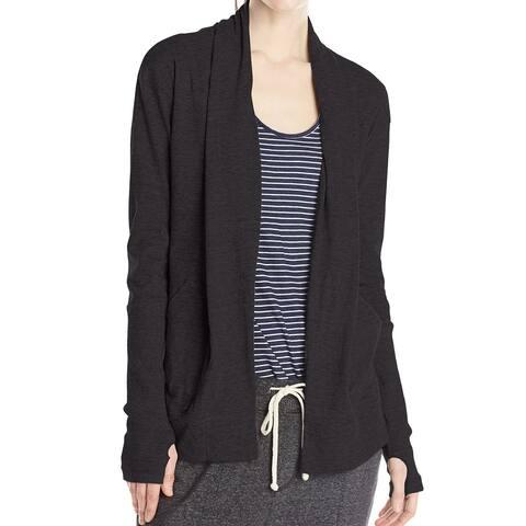 Alternative Women's Black Size Small S Draped Open Cardigan Sweater